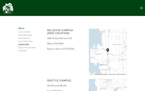 Screenshot of Locations Page dartmoorschool.org - Locations — Dartmoor School - captured Nov. 6, 2018