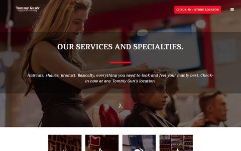 Screenshot of Services Page tommyguns.com - Services – Tommy Gun's Original Barbershop - captured Oct. 24, 2017