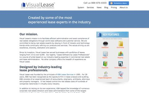 Screenshot of About Page visuallease.com - About Us   Visual Lease - captured Oct. 29, 2014
