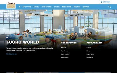 Screenshot of Home Page fugro.com - Fugro World Wide - captured Jan. 26, 2017