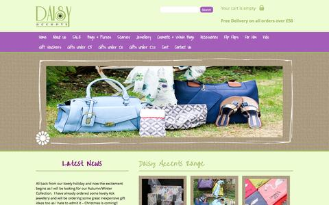 Screenshot of Home Page daisyaccents.com - Daisy Accents - captured Sept. 26, 2014