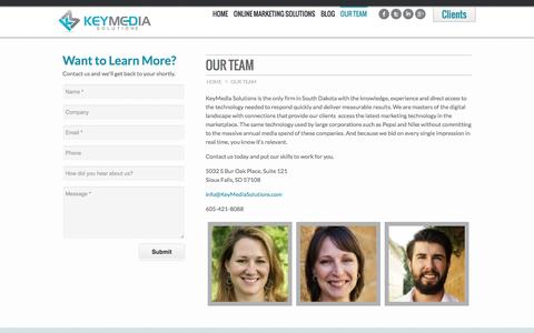 Screenshot of Team Page keymediasolutions.com - Our Team | KeyMedia Solutions - captured Oct. 29, 2014
