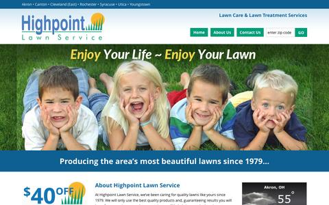 Screenshot of About Page hplawn.com - Local Lawn Care Services | Lawn Maintenance Ohio | Lawn Treatment Akron Ohio - captured Nov. 9, 2016