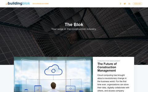 Screenshot of Blog buildingblok.com - The Blok - captured Sept. 19, 2018
