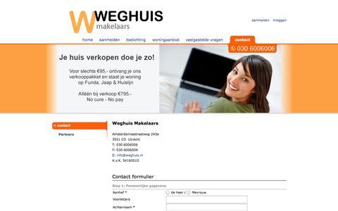 Screenshot of Contact Page weghuis.nl - Weghuis Makelaars l Contact - captured Oct. 27, 2014