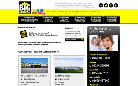 Screenshot of Contact Page bigstorage.info - Contact BiG Storage | Commercial & domestic Self Storage UK - captured Sept. 26, 2015