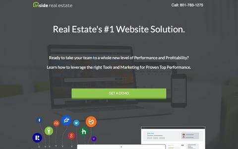 Screenshot of Landing Page insiderealestate.com - Inside Real Estate - Website, Lead-Generation, CRM & Automation System - captured Oct. 19, 2016