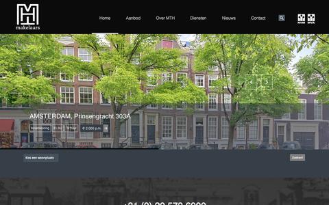 Screenshot of Home Page mthmakelaars.nl - Merel & Ter Haar MakelaarsHome Page | Merel & Ter Haar Makelaars - captured Sept. 30, 2014