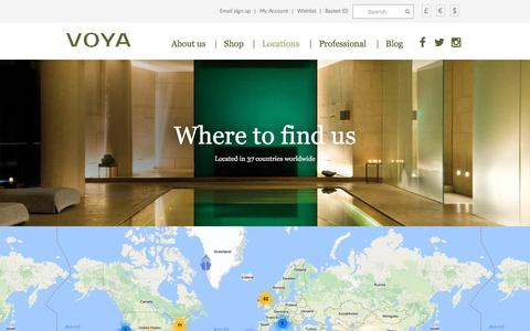 Screenshot of Locations Page voya.ie - Locations - Tales from the sea - VOYA - captured Dec. 12, 2016