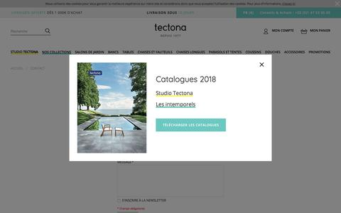 Screenshot of Contact Page tectona.net - contact - captured Sept. 23, 2018