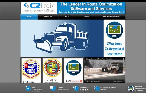 Screenshot of Case Studies Page c2logix.com - C2Logix Route Optimization Solutions - captured July 17, 2015