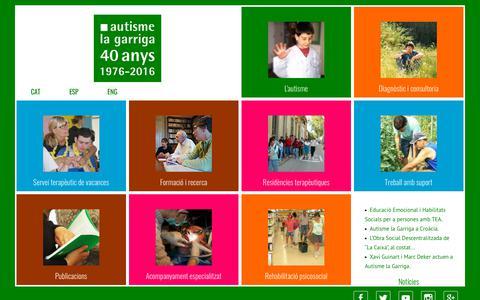 Screenshot of Home Page autisme.com - Autisme - captured Oct. 29, 2018