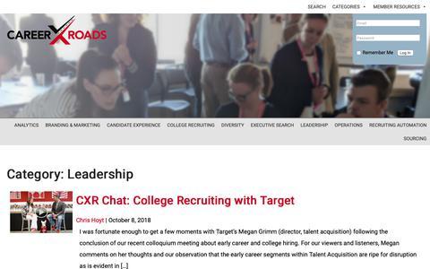 Screenshot of Team Page cxr.works - Leadership Archives | CXR Headlines - captured Oct. 22, 2018