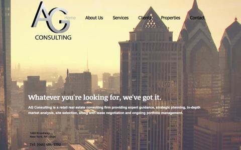 Screenshot of Home Page agconsultingcorp.com - AG Consulting, LLC - captured Nov. 19, 2016