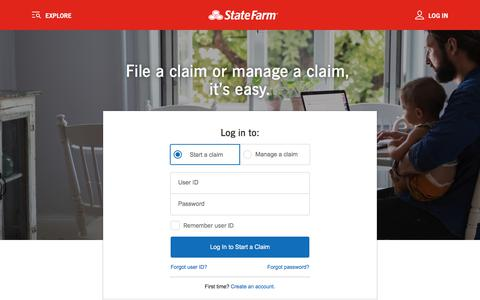 Claims Center – File a Claim, Manage a Claim – State Farm®
