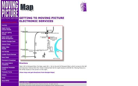 Screenshot of Maps & Directions Page movingpicture.com - Moving Picture Electronic Services - Map - captured Oct. 9, 2014