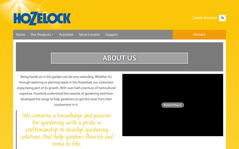 Screenshot of About Page hozelock.com - About Us - Hozelock - captured July 17, 2016