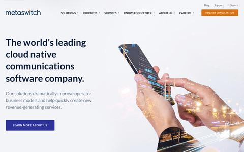 Metaswitch | Cloud native communications software