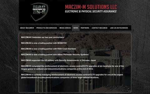 Screenshot of Press Page maczim-m.com - NEWS | www.maczim-m.com - captured Oct. 27, 2014