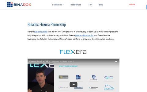 Binadox Flexera Parnership | Binadox