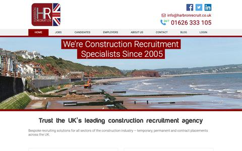 Screenshot of Home Page harbronrecruit.co.uk - Specialist Construction Recruitment Agency – Harbron Recruit - captured Sept. 27, 2018