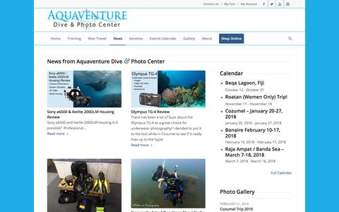 Screenshot of Press Page aquaventurescuba.com - News - Aquaventure Dive & Photo Center - captured Oct. 8, 2017
