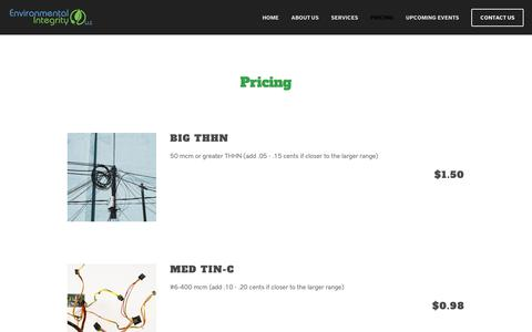 Screenshot of Pricing Page eic-llc.net - Pricing — Environmental Integrity - captured Nov. 10, 2018