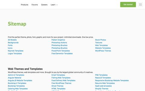 Screenshot of Site Map Page envato.com - Sitemap - Envato - captured Oct. 25, 2019