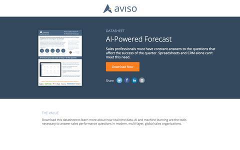 AI-Powered Forecast | Aviso