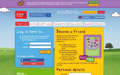 Screenshot of Login Page ellaskitchen.co.uk - Login   Ella's Kitchen - captured Oct. 28, 2014