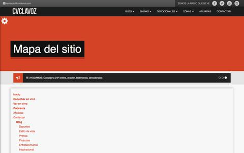 Screenshot of Site Map Page cvclavoz.com - CVCLAVOZ says... - captured Sept. 21, 2018
