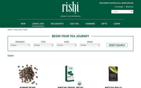 Buy Organic Green Tea | Rishi-Tea.com