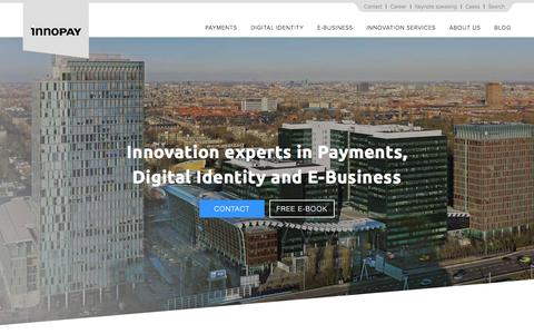 Screenshot of Home Page innopay.com - Innopay: Innovation experts in Payments, Digital Identity and E-Business - captured Jan. 8, 2016