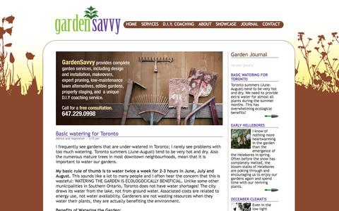 Screenshot of Home Page gardensavvy.ca - GardenSavvy - captured Sept. 26, 2014