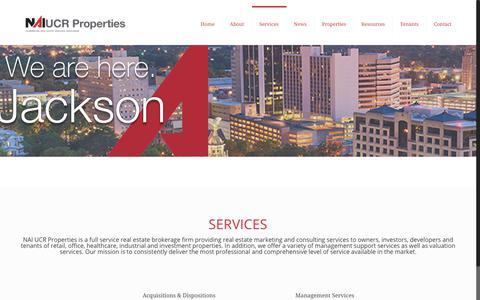 Screenshot of Services Page ucrproperties.com - Services - NAI UCR PropertiesNAI UCR Properties - captured Dec. 17, 2018