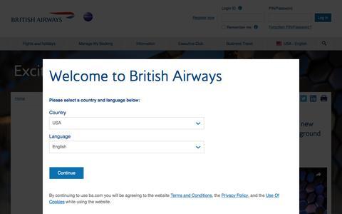 What's new | British Airways