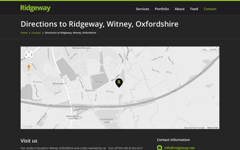 Screenshot of Maps & Directions Page ridgeway.net - Directions to Ridgeway, Witney, Oxfordshire - captured Oct. 26, 2014