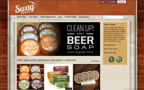 Screenshot of Home Page swagbrewery.com - Swag Brewery   Craft Beer Gifts - captured Sept. 30, 2014