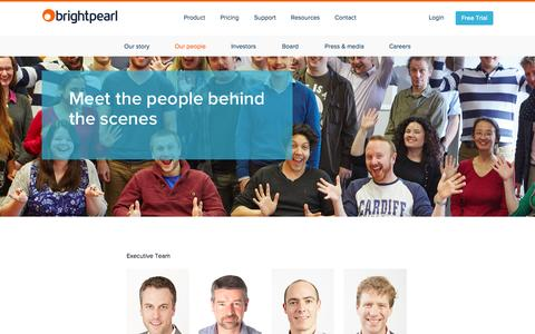 Screenshot of Team Page brightpearl.com - Our People | Brightpearl - captured Oct. 1, 2015