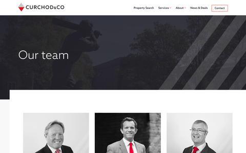 Screenshot of Team Page curchodandco.com - Team | Curchod & Co. - captured Sept. 29, 2018