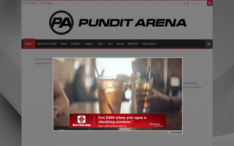 Screenshot of Home Page punditarena.com - Pundit Arena - Your Sports. Your Say. - captured Oct. 14, 2015