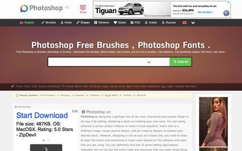 Screenshot of Home Page photoshop.cc - Photoshop cc : Free photoshop brushes, Photoshop Fonts - captured Feb. 5, 2016
