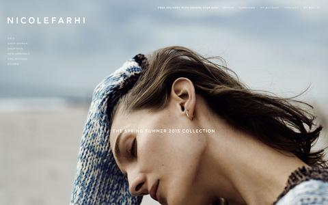 Screenshot of Home Page nicolefarhi.com - Shop Men + Women Ready to Wear and Accessories | Nicole Farhi - captured Jan. 22, 2015