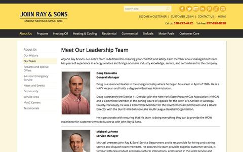 Screenshot of Team Page johnray.com - Management and Sales Personnel | John Ray & Sons - captured Nov. 27, 2016