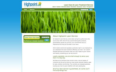 Screenshot of About Page hplawn.com - Local Lawn Care Services | Lawn Maintenance Ohio | Lawn Treatment New York - captured Oct. 2, 2014