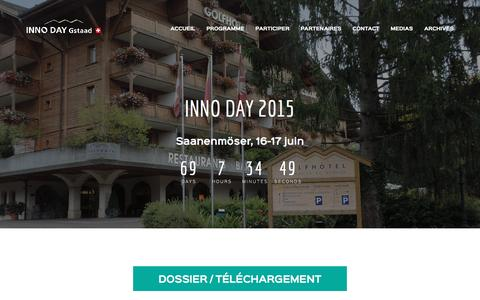 Screenshot of Press Page inno-day.ch - Media | Inno Day Gstaad - captured April 7, 2016