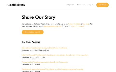 Share Our Story | Wealthsimple