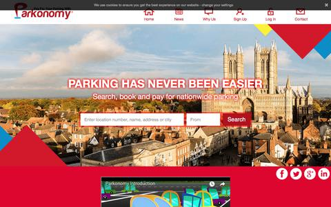 Screenshot of parkonomy.com - Parkonomy | The UK's Leading Car Park Search Engine | Parking, Quick and Simple - captured July 15, 2018