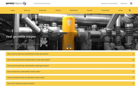 Screenshot of FAQ Page spirotech.nl - Spirotech | FAQ - captured June 15, 2017