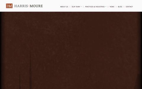 Screenshot of Blog harrismoure.com - Harris Moure Blog: Domestic and Foreign Legal News for Businesses - captured Sept. 29, 2014
